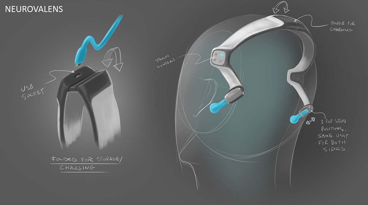 Modius - Weightloss Headband Concept sketch 1