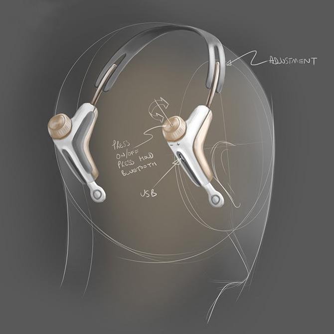 Modius - Weightloss Headband Concept sketch 4